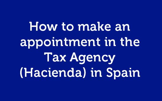 Make an appontment in Hacienda