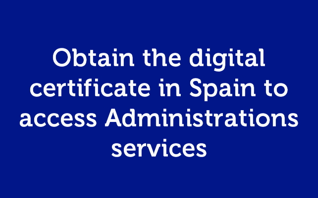 How to obtain the digital certificate