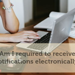 Electronic notifications